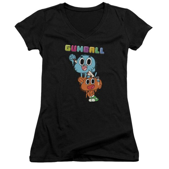 Amazing World Of Gumball Gumball Spray Junior V Neck T-Shirt