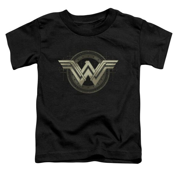 Batman V Superman Ancient Emblems Short Sleeve Toddler Tee Black T-Shirt