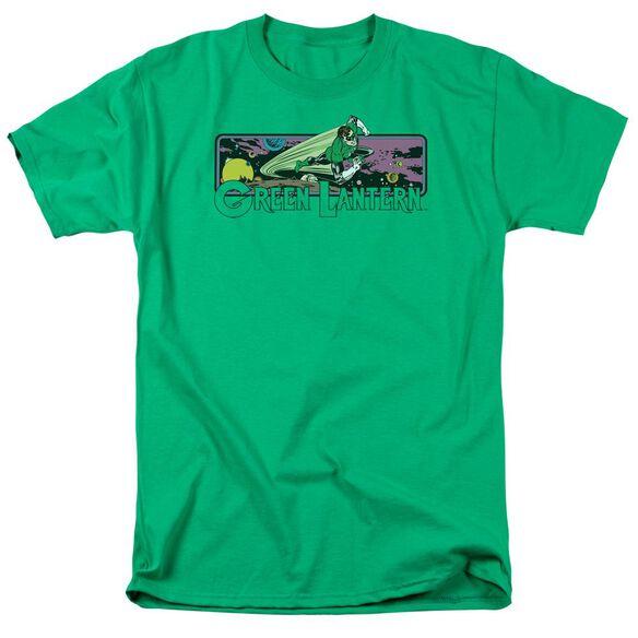 Dc Green Lantern Cosmos Short Sleeve Adult Kelly Green T-Shirt