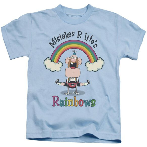 Uncle Grandpa Life's Rainbows Short Sleeve Juvenile Light T-Shirt