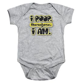 I Am Poopy - Infant Snapsuit - Athletic Heather - Lg