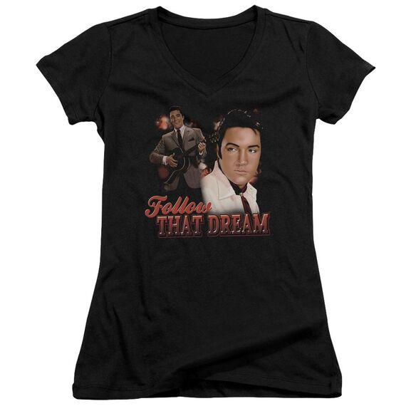Elvis Follow That Dream Junior V Neck T-Shirt