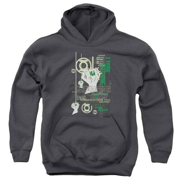 Green Lantern Core Strength Youth Pull Over Hoodie