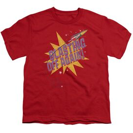 Astro Pop Blast Off Short Sleeve Youth T-Shirt