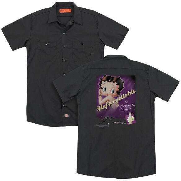 Betty Boop Unforgettable (Back Print) Adult Work Shirt
