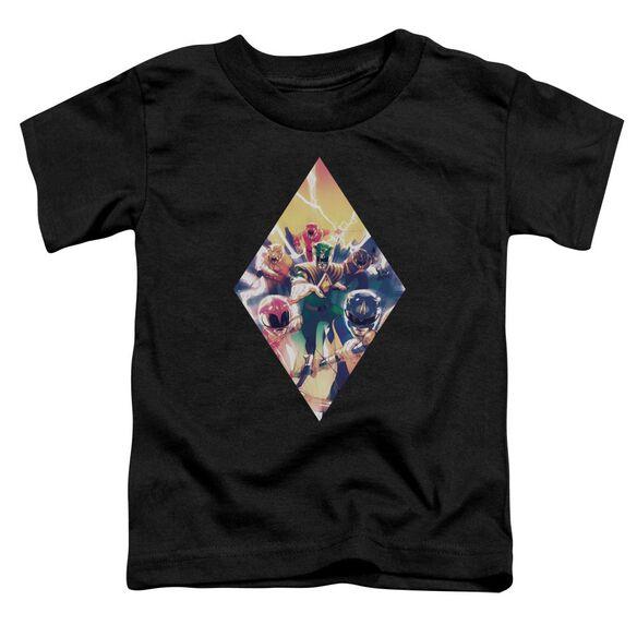Power Rangers Sdcc Ranger Diamond 1 Short Sleeve Toddler Tee Black T-Shirt