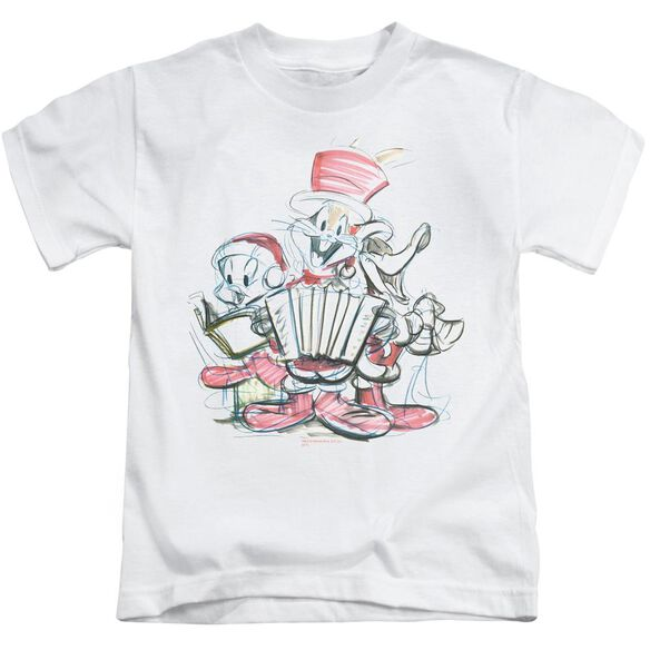 Looney Tunes Holiday Sketch Short Sleeve Juvenile T-Shirt