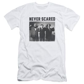 Three Stooges Never Scared Short Sleeve Adult T-Shirt