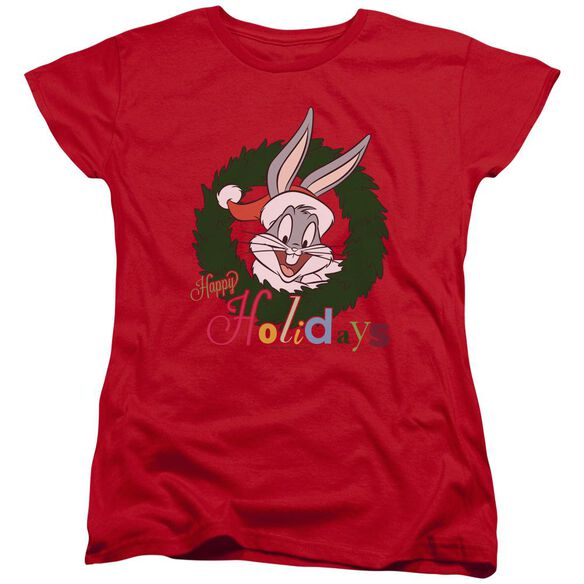 Looney Tunes Holiday Bunny Short Sleeve Womens Tee T-Shirt