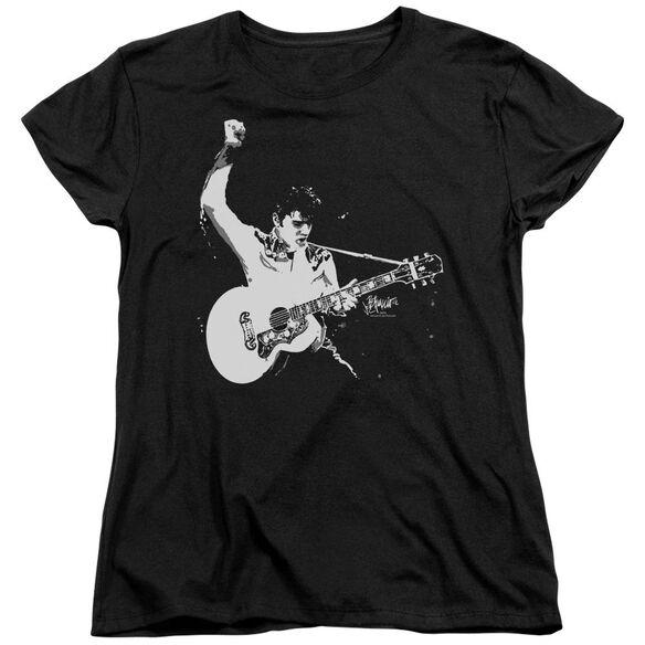 Elvis And White Guitarman Short Sleeve Women's Tee T-Shirt