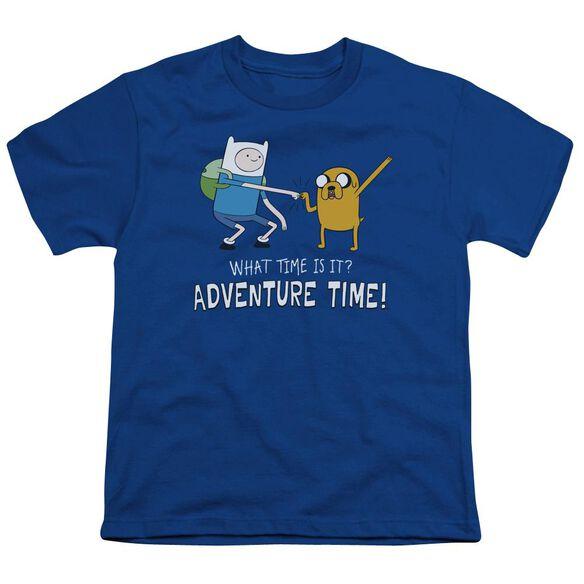 Adventure Time Fist Bump Short Sleeve Youth Royal T-Shirt