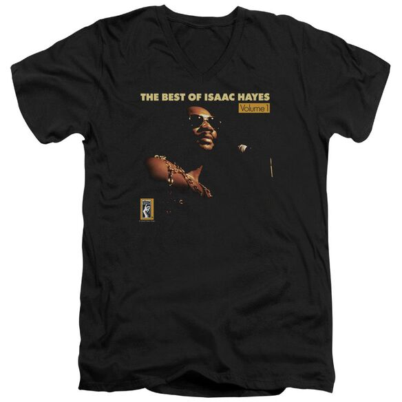 ISAAC HAYES CHAIN VEST - S/S ADULT V - NECK 30/1 - BLACK T-Shirt