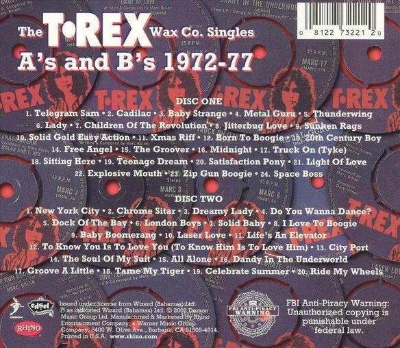 T.Rex Wax Co.Singles(Dlx)
