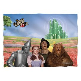 Wizard Of Oz Emerald City (Front Back Print) Poly 20 X28 Pillow Case White