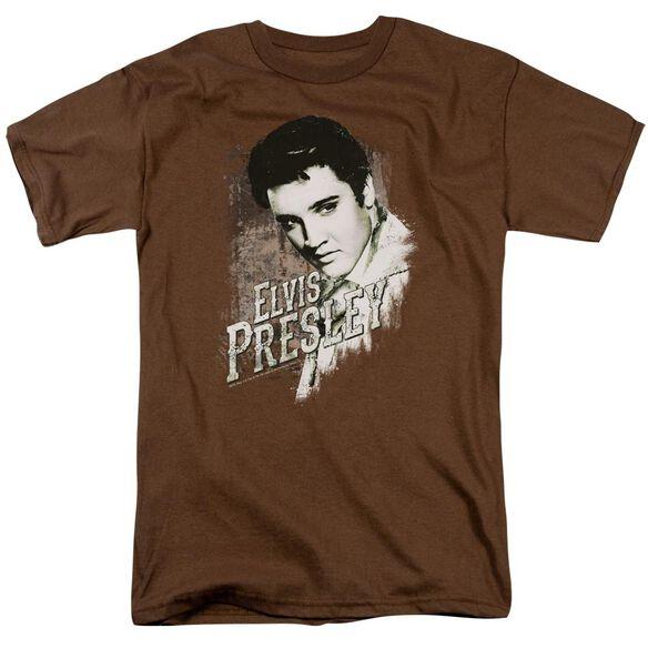 Elvis Rugged Elvis Short Sleeve Adult Coffee T-Shirt