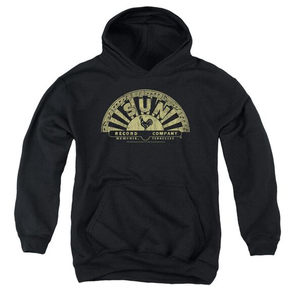 Sun Tattered Logo Youth Pull Over Hoodie