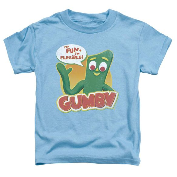 Gumby Fun & Flexible Short Sleeve Toddler Tee Carolina Blue Md T-Shirt