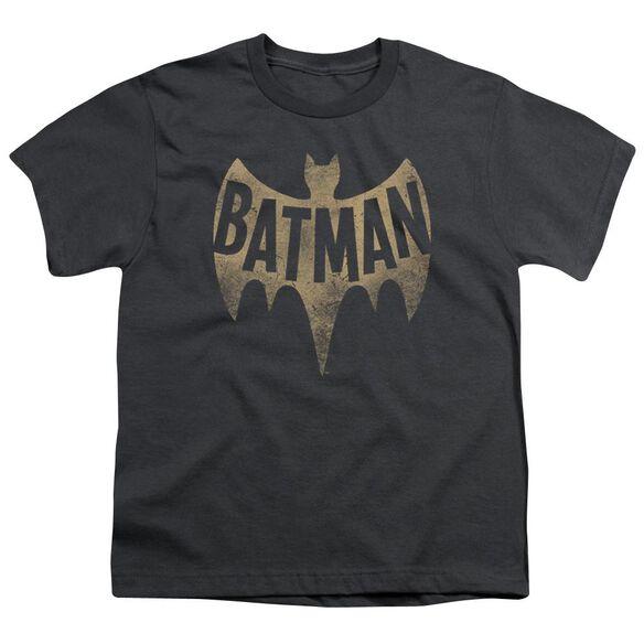 Batman Classic Tv Vintage Logo Short Sleeve Youth T-Shirt