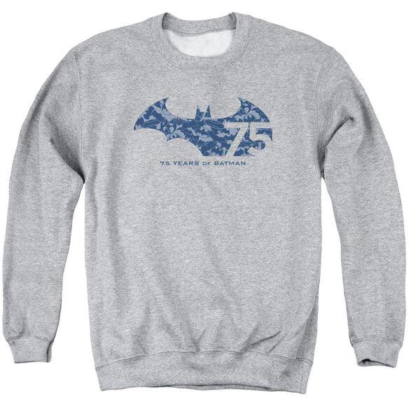Batman 75 Year Collage Adult Crewneck Sweatshirt Athletic