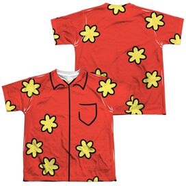 Family Guy Quagmire Costume (Front Back Print) Short Sleeve Youth Poly Crew T-Shirt
