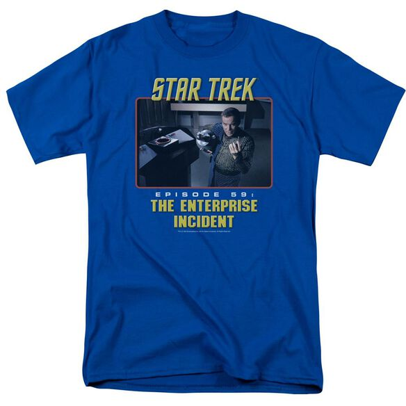 St Original The Enterprise Incident Short Sleeve Adult Royal Blue T-Shirt