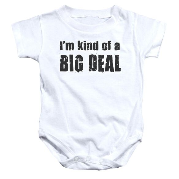 Big Deal Infant Snapsuit White Lg