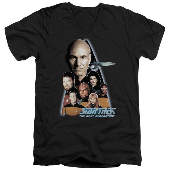 Star Trek The Next Generation Short Sleeve Adult V Neck T-Shirt