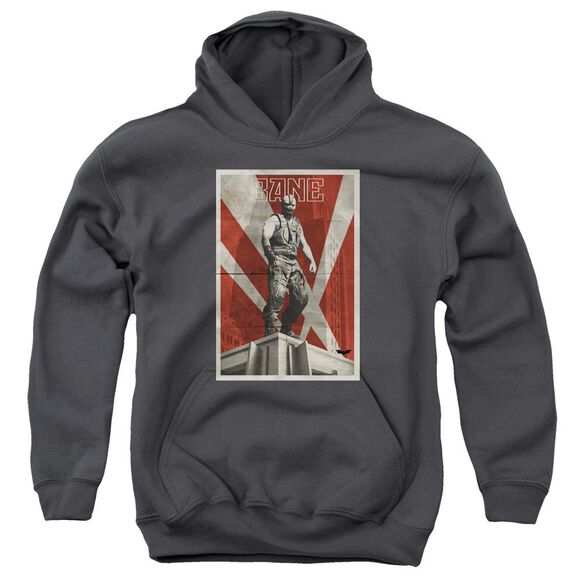 Dark Knight Rises Bane Rooftop Poster Youth Pull Over Hoodie