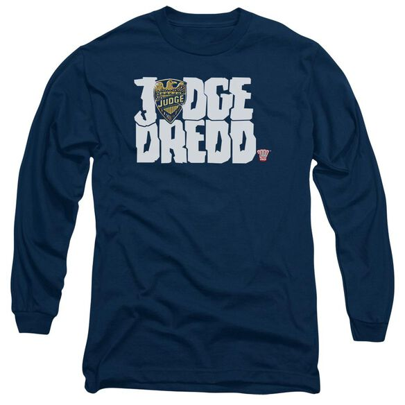 Judge Dredd Logo Long Sleeve Adult T-Shirt