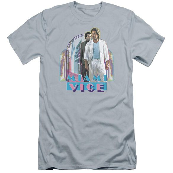 Miami Vice Miami Heat Premuim Canvas Adult Slim Fit Light