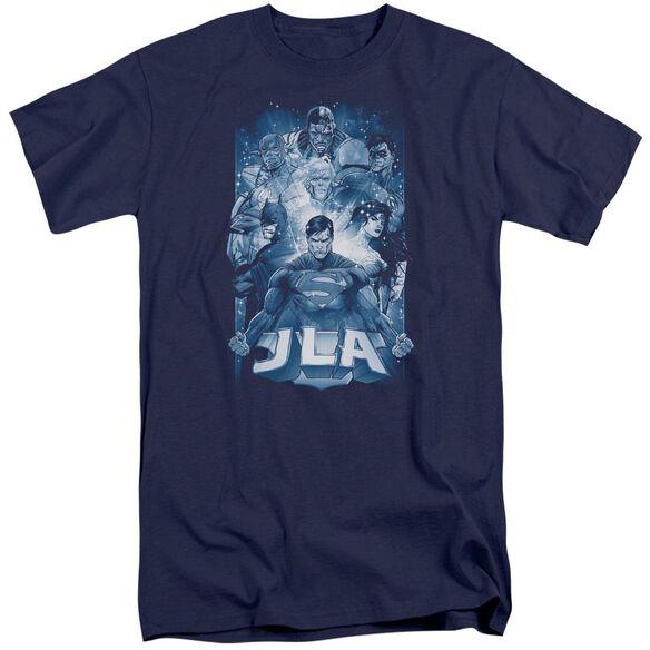 Jla Burst Short Sleeve Adult Tall T-Shirt