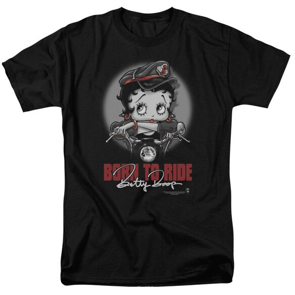 Betty Boop Born To Ride Short Sleeve Adult T-Shirt