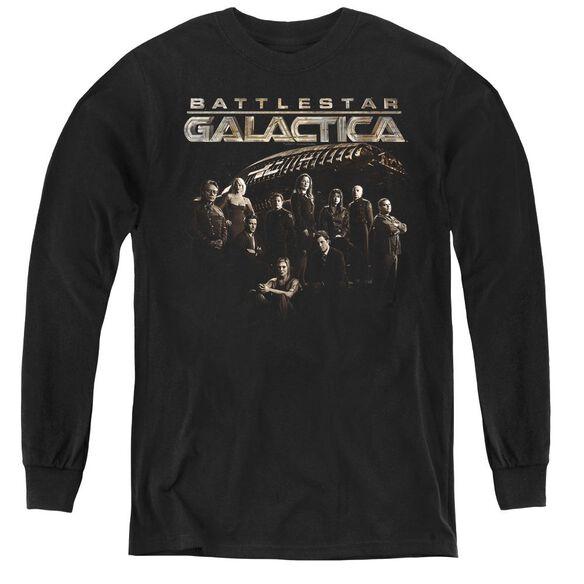 Battlestar Galactica Battle Cast - Youth Long Sleeve Tee - Black