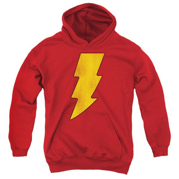Dc Shazam Logo Distressed Youth Pull Over Hoodie