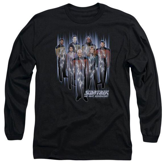 STAR TREK BEAM US UP - L/S ADULT 18/1 - BLACK T-Shirt