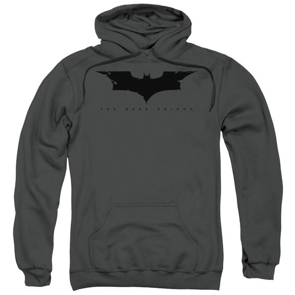 Dark Knight Cracked Bat Logo Adult Pull Over Hoodie