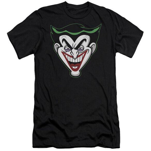Batman Bb Animated Joker Head Short Sleeve Adult T-Shirt