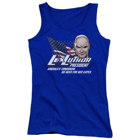 Superman Lex For President Juniors Tank Top Royal