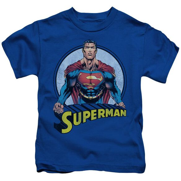 SUPERMAN FLYING HIGH AGAIN - S/S JUVENILE 18/1 - ROYAL BLUE - T-Shirt