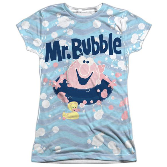 Mr Bubble Shine Short Sleeve Junior Poly Crew T-Shirt