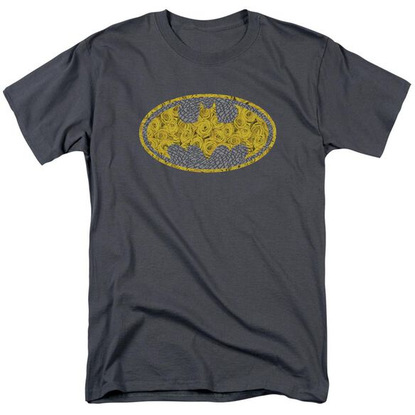 Batman Elephant Rose Signal Short Sleeve Adult Charcoal T-Shirt