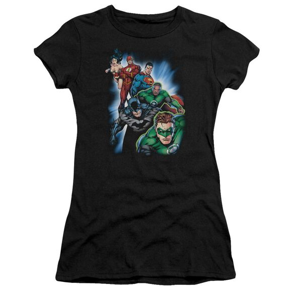 Jla Heroes Unite Short Sleeve Junior Sheer T-Shirt