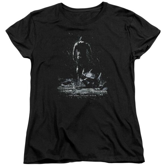 Dark Knight Rises Bane Poster Short Sleeve Womens Tee Black T-Shirt