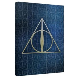 Harry Potter Deathly Hallows Icons Canvas Wall Art With Back Board