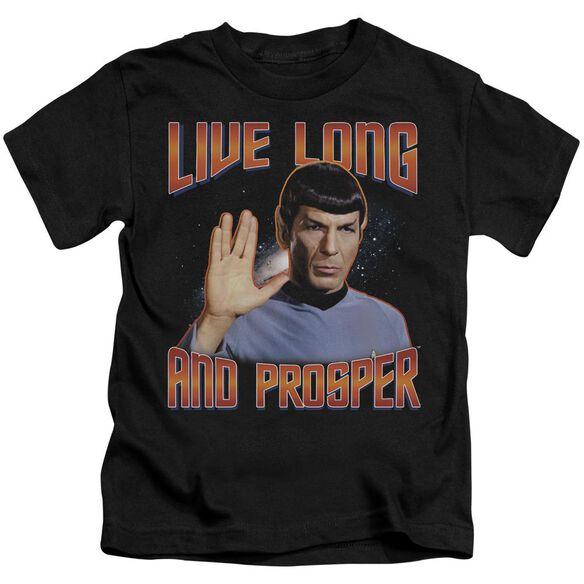 St Original Live Long And Prosper Short Sleeve Juvenile Black T-Shirt