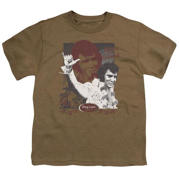 Elvis Aloha Hang Loose Short Sleeve Youth Safari T-Shirt