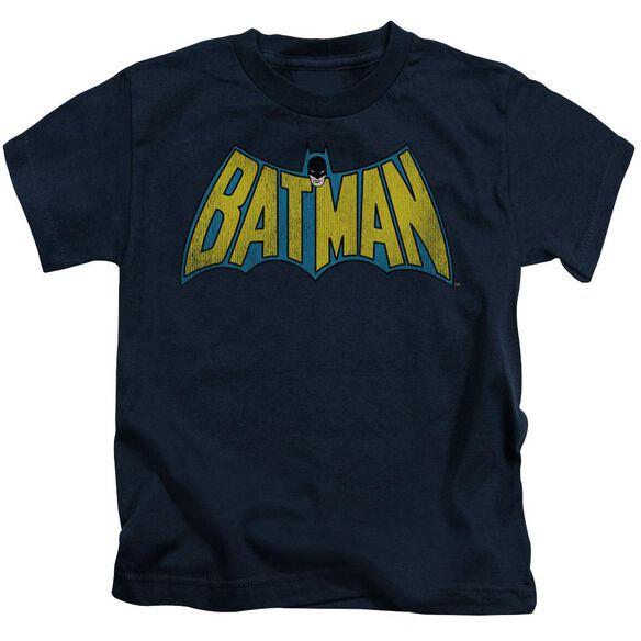 Dc Classic Batman Logo Short Sleeve Juvenile Navy T-Shirt
