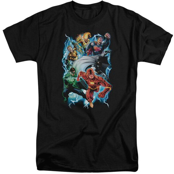 Jla Electric Team Short Sleeve Adult Tall T-Shirt