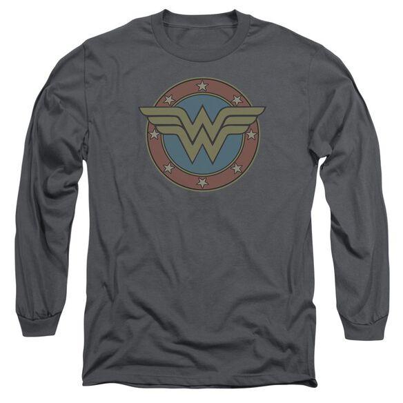 Dc Ww Vintage Emblem Long Sleeve Adult T-Shirt