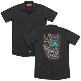 Cbgb City Mowhawk (Back Print) Adult Work Shirt